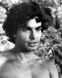 Peter Gallagher Looking Away Topless in Black and White Close Up Portrait Photo by  Movie Star News