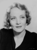 Marlene Dietrich Posed in Black V-neck Dress with Dark lipstick Photo by  Movie Star News