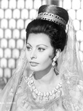 Sophia Loren wearing an Elegant Dress in a Classic Portrait Photo by  Movie Star News