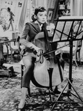 Audrey Hepburn Love in the Afternoon Playing Violin +tograph High Qu... Photo by  Movie Star News