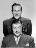 Abbott & Costello Posed in Suit While smiling in Classic Portrait Photo by  Movie Star News