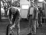Paul Newman Washing Hands in Long Sleeves With Cap Black and White Photo by  Movie Star News