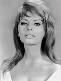 Sophia Loren wearing a Scoop-Neck Dress in a Close Up Portrait Photo by  Movie Star News