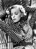 Margaret Sullivan Posed in polka dot with Two Hands Raise Photo af  Movie Star News