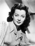 Gail Russell Straight Face in Black and White Portrait Photo by  Movie Star News