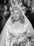 Ginger Rogers in Wedding Dress Outfit Black and White Portrait Photo by  Movie Star News