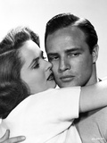Marlon Brando Close Up Portrait with a Man and Woman hugging Photo by  Movie Star News