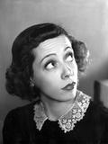 Imogene Coca Looking Up with Embroidered Collar Blouse Photo by  Movie Star News