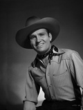 Gene Autry wearing Cowboy Outfit, Posed in Striped Shirt Photo by  Movie Star News