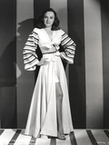 Paulette Goddard Posed with Hands on Waist wearing Elegant Dress Photo by  Movie Star News