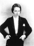 Louise Brooks Posed in Black Suit with Hands in Pocket Photo by  Movie Star News