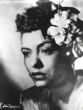 Billie Holiday Close Up Portrait with Floral Accessories Photo by  Movie Star News