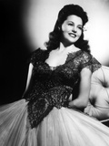 Cyd Charisse Looking Away in Black Dress with a Smile Photo by  Movie Star News
