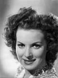 Maureen O'Hara Close Up Portrait in Glittery Vest in Black and White Photo by E Bachrach