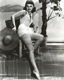 Paulette Goddard Posed with One Leg Forward wearing White Bikini Photo by  Movie Star News