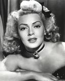 Lana Turner Close Up Portrait with Ribbon and Amulet Necklace Photo by  Movie Star News
