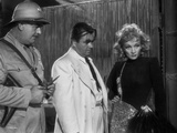 Marlene Dietrich Looking Away with Two Men in Movie Scene Photo by  Movie Star News