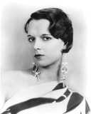 Louise Brooks Posed in Animal Print Dress with Long Earrings Photo by  Movie Star News