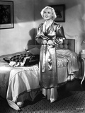Marion Davies Posed in Sleeping Outfit in Black and White Photo by  Movie Star News