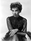 Leslie Caron Portrait in Black Gown with White Background Photo by  Movie Star News