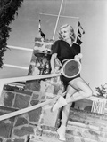 Ginger Rogers in Black Dress With Tennis Racquet Portrait Photo by  Movie Star News