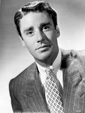 Peter Lawford smiling in Formal Suit Black and White Portrait Photo by  Movie Star News