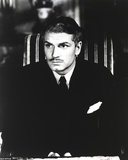 Laurence Olivier in Black Suit with Tie Black and White Portrait Photo by  Movie Star News