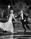 Fred Astaire and Ginger Rogers Dancing in Suit and Dress, smiling Photo by  Movie Star News