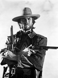 Clint Eastwood Posed in Cowboy Attire with Two Pistol Foto af  Movie Star News
