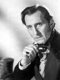 Peter Cushing Posed in Black Suit With Head Leaning on Hand Photo by  Movie Star News