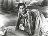 Laurence Olivier Lying on Bed in Formal Outfit Black and White Photo by  Movie Star News