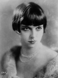 Louise Brooks Posed in Fur Coat with Necklace and Earrings Photo by  Movie Star News