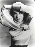 Janet Leigh Portrait in White Long Sleeve Cotton Sweater and Wrist Watch Photo by  Movie Star News