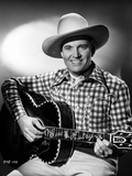 Gene Autry Playing the Guitar in Black and White Portrait Photo by  Movie Star News