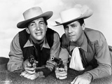 Dean Martin and Jerry Lewis Crawling in Cowboy Outfit Photo by  Movie Star News