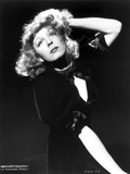 Margaret Sullivan Looking Up in Black Dress with Black Background Photo by  Movie Star News