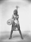 Mamie Van Doren Posed in Glossy Sexy Dress with Legs wide Open Photo by  Movie Star News