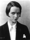 Louise Brooks Posed in Black Suit with white Collar Portrait Photo by  Movie Star News