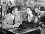 Black and White Portrait of the Movie Las Vegas Story in Couple Portrait Photo by  Movie Star News