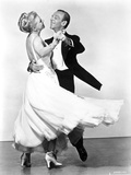 Fred Astaire and Ginger Rogers Dancing in White Dress and Black Suit Photo by  Movie Star News