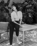 Sophia Loren sitting on a Table in a Classic Portrait Photo autor Movie Star News