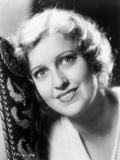 Jeanette MacDonald Close Up in White V-Neck Dress with Curtain Curl Hair Photo by  Movie Star News