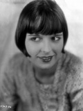 Louise Brooks smiling in Floral Dress with Black and White Background Photo by  Movie Star News