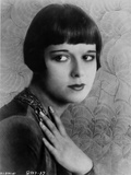 Louise Brooks Posed in Black Dress with Black Necklace Photo by  Movie Star News