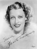 Jeanette MacDonald Close Up in Classic Portrait in White Fur Coat Photo by  Movie Star News