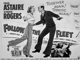 Fred Astaire and Ginger Rogers Follow the Fleet Movie Poster Photo by  Movie Star News