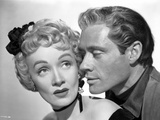 Marlene Dietrich Kissing Pose with Man in Close Up Portrait Photo by  Movie Star News