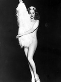 Sally Rand Naked and Carrying a Thick Furry Cloth with Black Background Photo by  Movie Star News