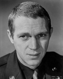 Steve McQueen Posed Topless in Black and White Portrait Photo by  Movie Star News