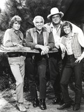 Bonanza in Casual Wear Black and White Group Portrait Photo by  Movie Star News
